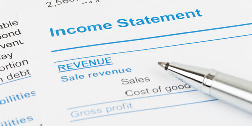Example of Income Statement to introduce a discussion on profit in manufacturing