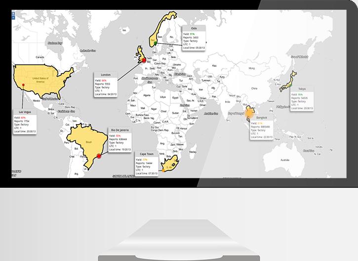 World map monitor